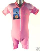 CHILDS SHORTY SUNSUIT UV PROTECTION SPF50 PINK 4-6 YR M